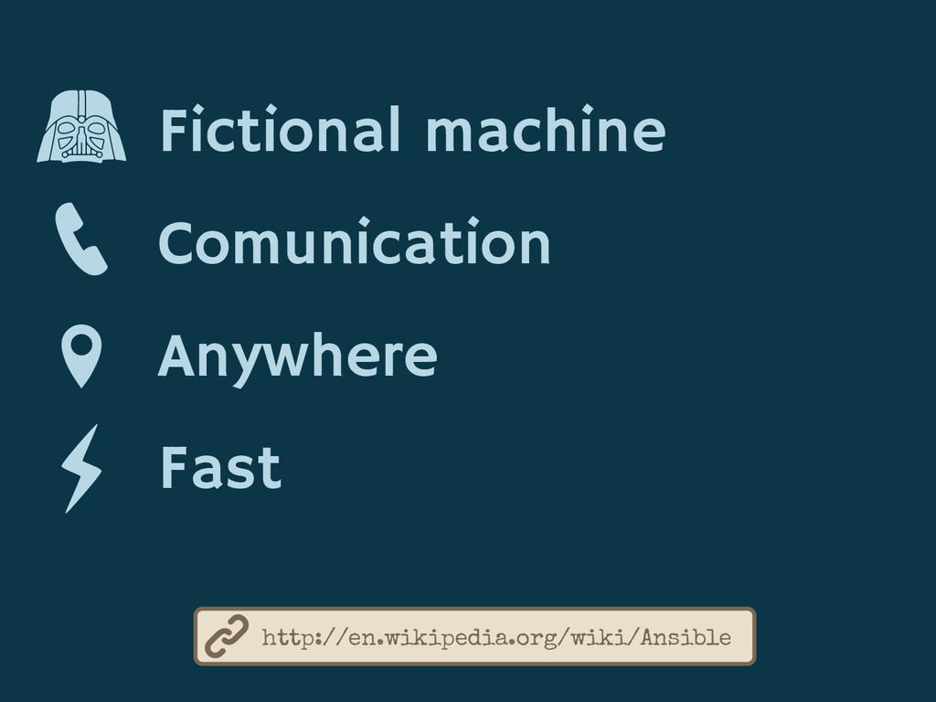 Fictional machine Comunication Anywhere Fast ht...