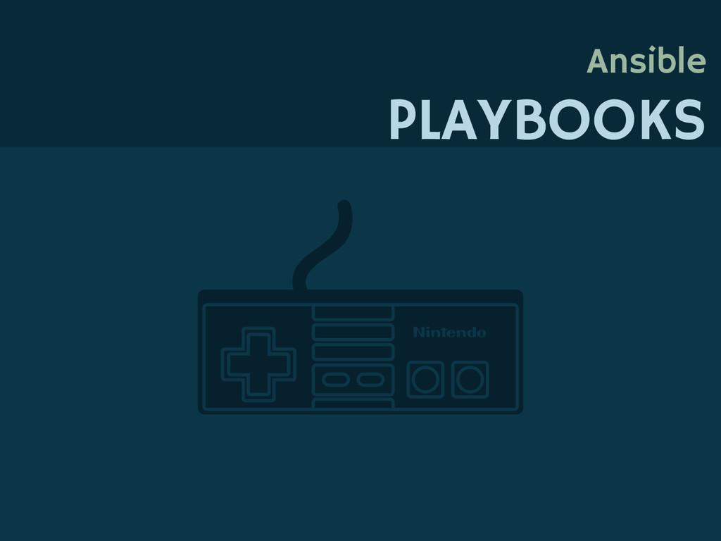 Ansible PLAYBOOKS