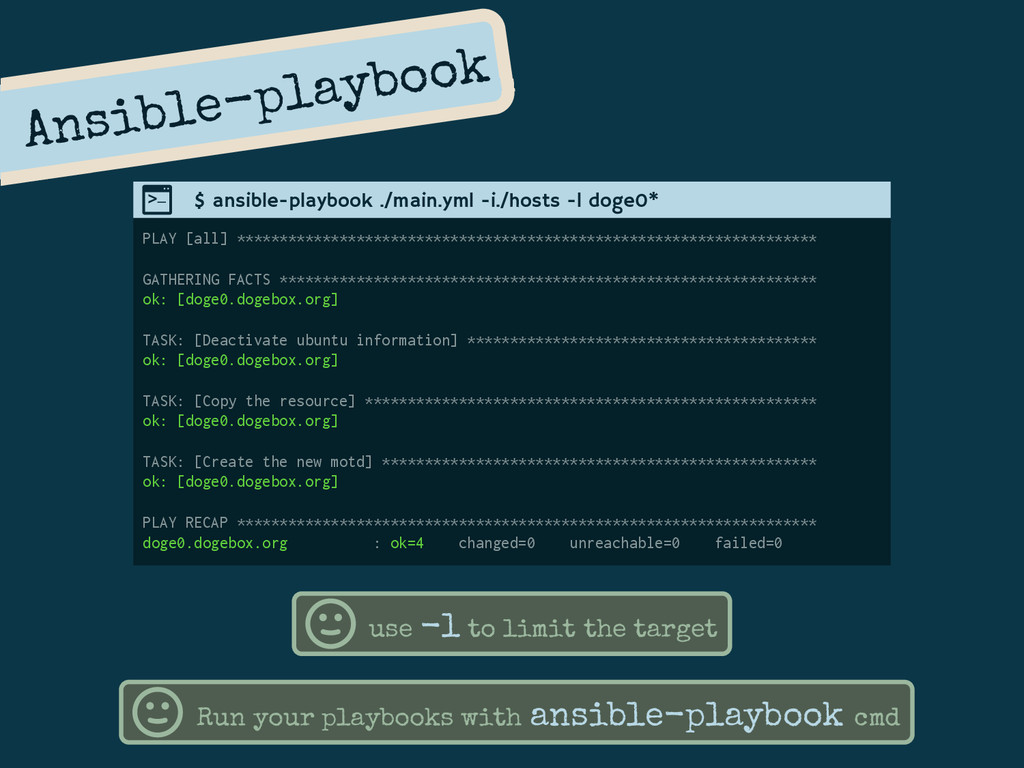 Ansible-playbook PLAY [all] *******************...