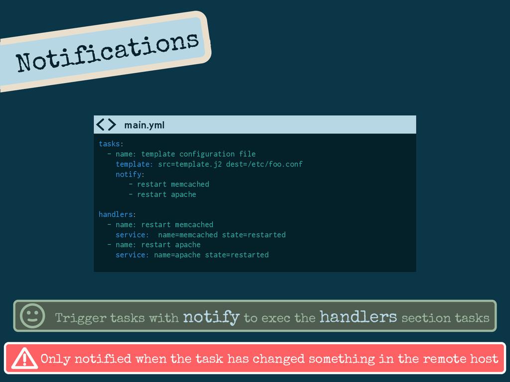 Notifications tasks: - name: template configura...