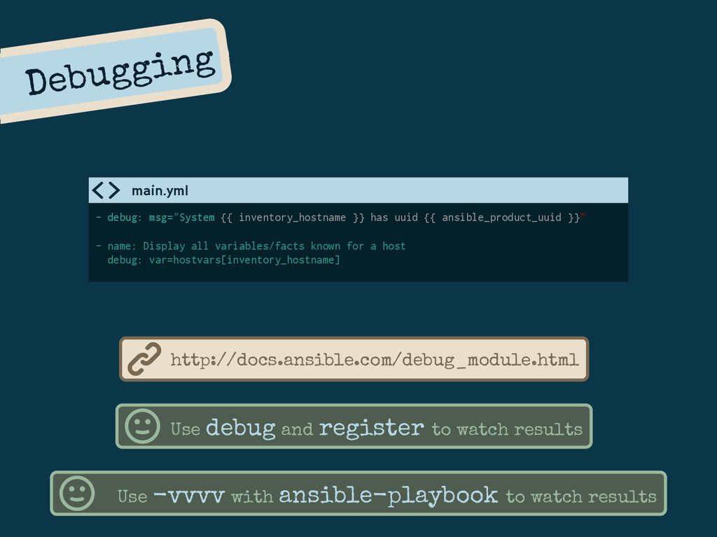 "Debugging - debug: msg=""System {{ inventory_hos..."