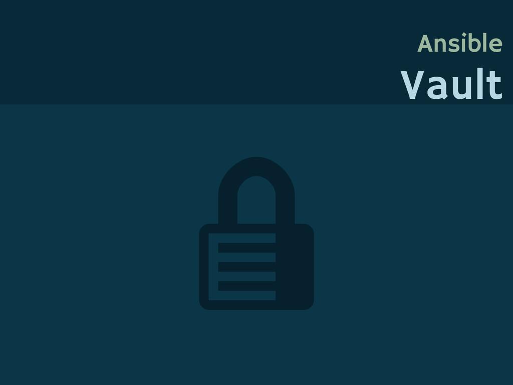 Ansible Vault
