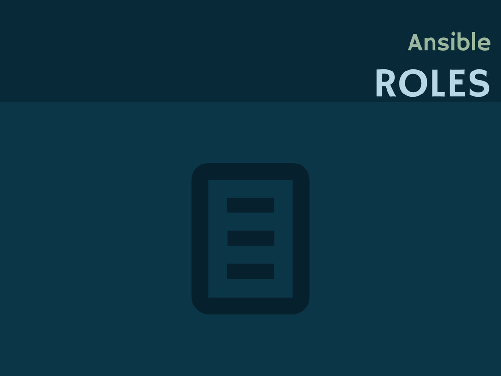 Ansible ROLES