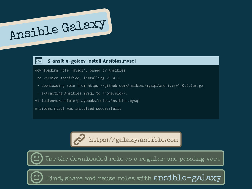 Ansible Galaxy downloading role 'mysql', owned ...