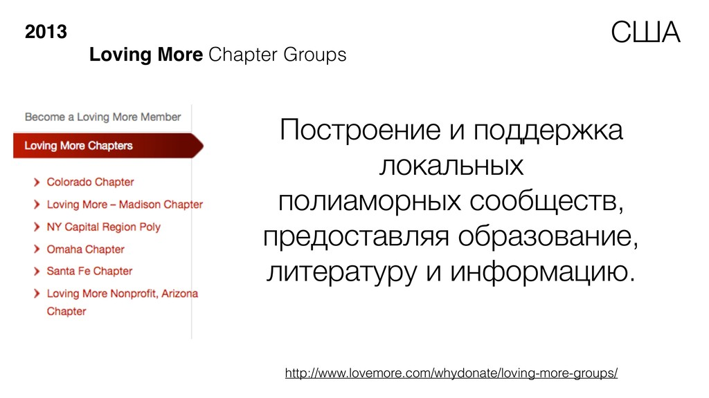 2013 Loving More Chapter Groups Построение и по...
