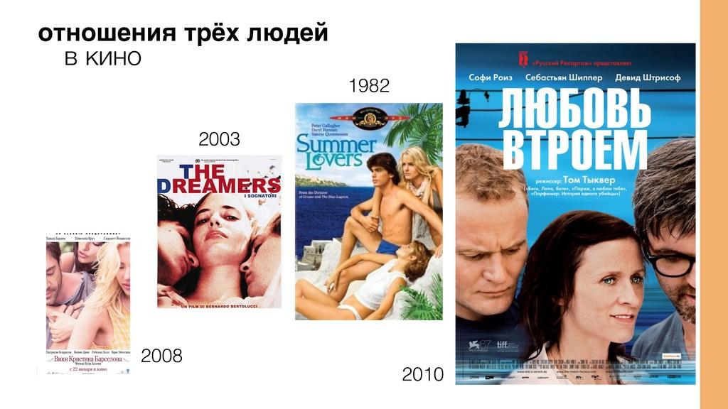 отношения трёх людей 2003 1982 2010 в кино 2008