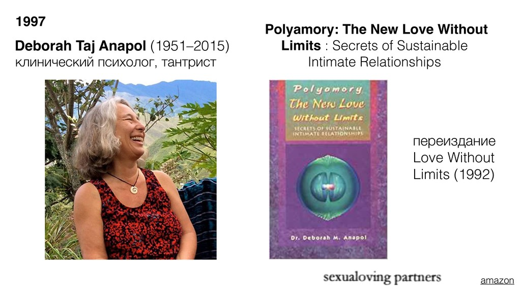 Deborah Taj Anapol (1951–2015) Polyamory: The N...