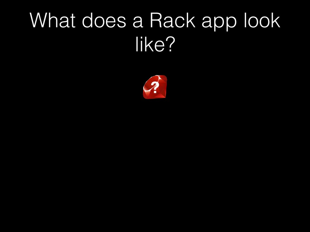 What does a Rack app look like? ?