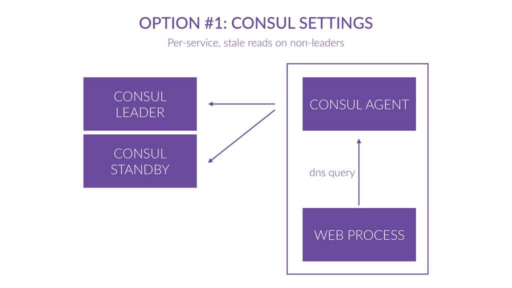 CONSUL  AGENT OPTION  #1:  CONSUL  SETTINGS Per...