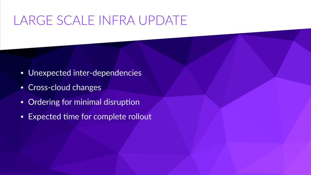 LARGE  SCALE  INFRA  UPDATE • Unexpected  inter...