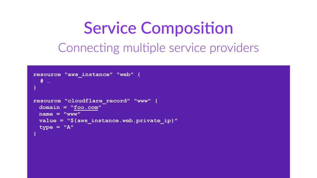 Service  ComposiUon ConnecCng  mulCple  service...