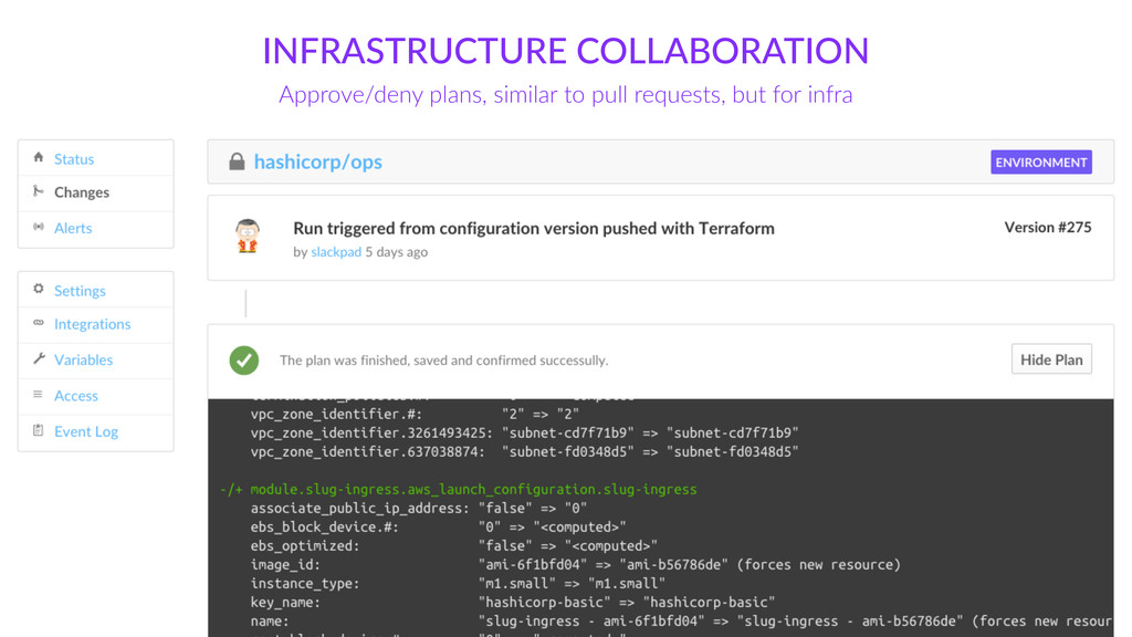 INFRASTRUCTURE  COLLABORATION Approve/deny  pla...