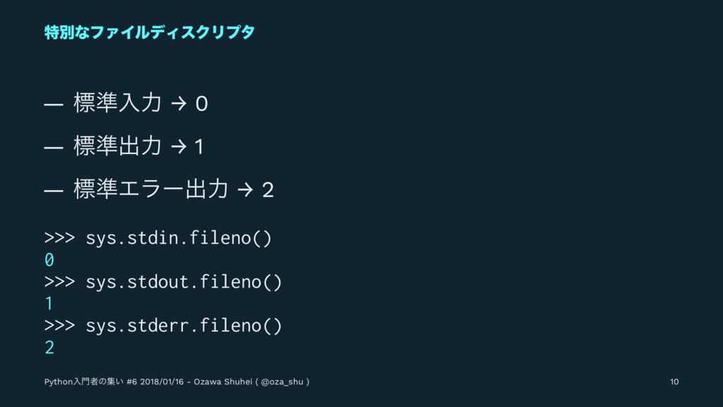 ಛผͳϑΝΠϧσΟεΫϦϓλ — ඪ४ೖྗ → 0 — ඪ४ग़ྗ → 1 — ඪ४Τϥʔग़ྗ ...