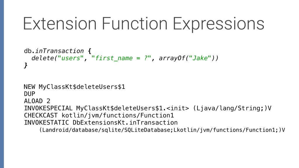 Extension Function Expressions NEW MyClassKt$de...