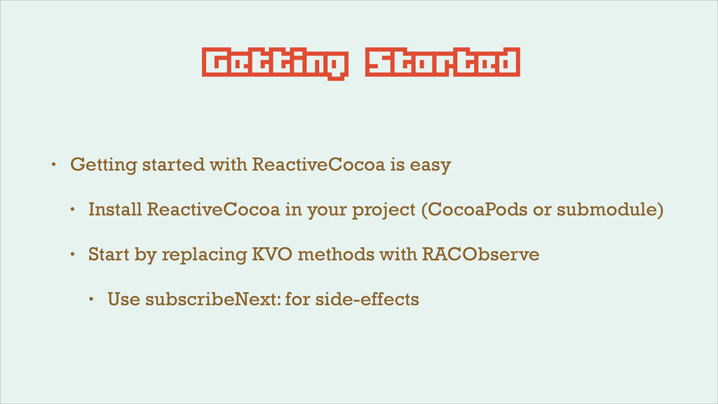 Getting Started • Getting started with Reactive...