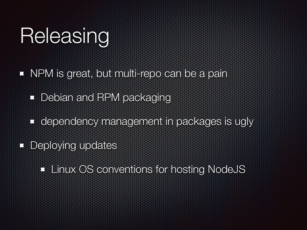 Releasing NPM is great, but multi-repo can be a...