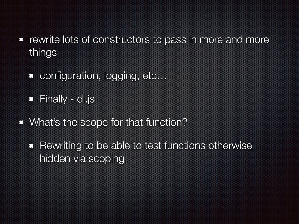 rewrite lots of constructors to pass in more an...