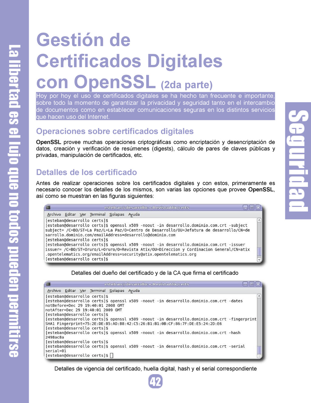 Gestión de Certificados Digitales con OpenSSL (...