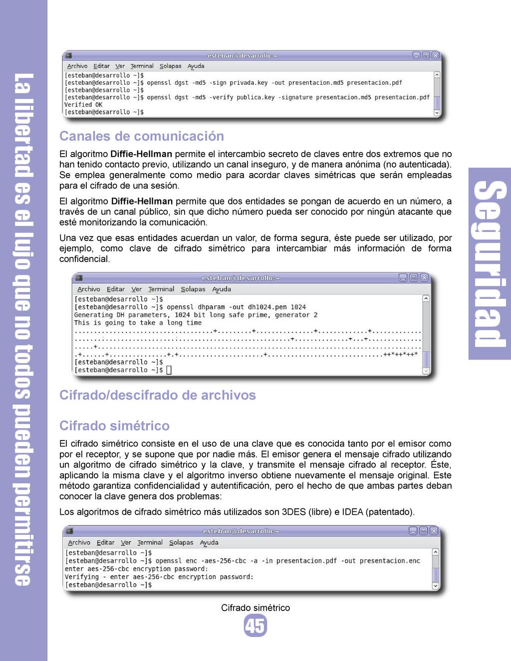 Canales de comunicación El algoritmo Diffie-Hel...