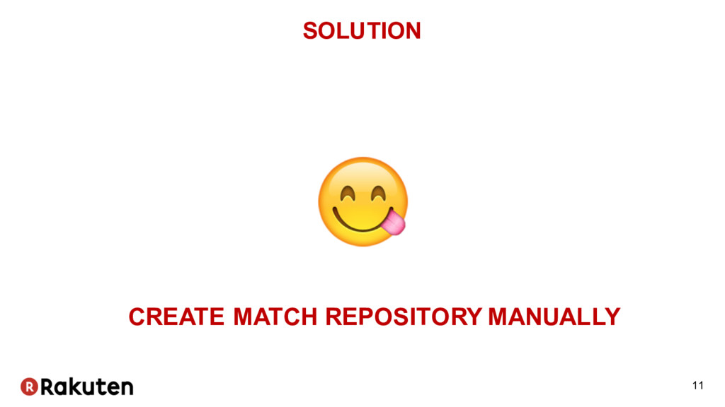 SOLUTION 11 CREATE MATCH REPOSITORY MANUALLY