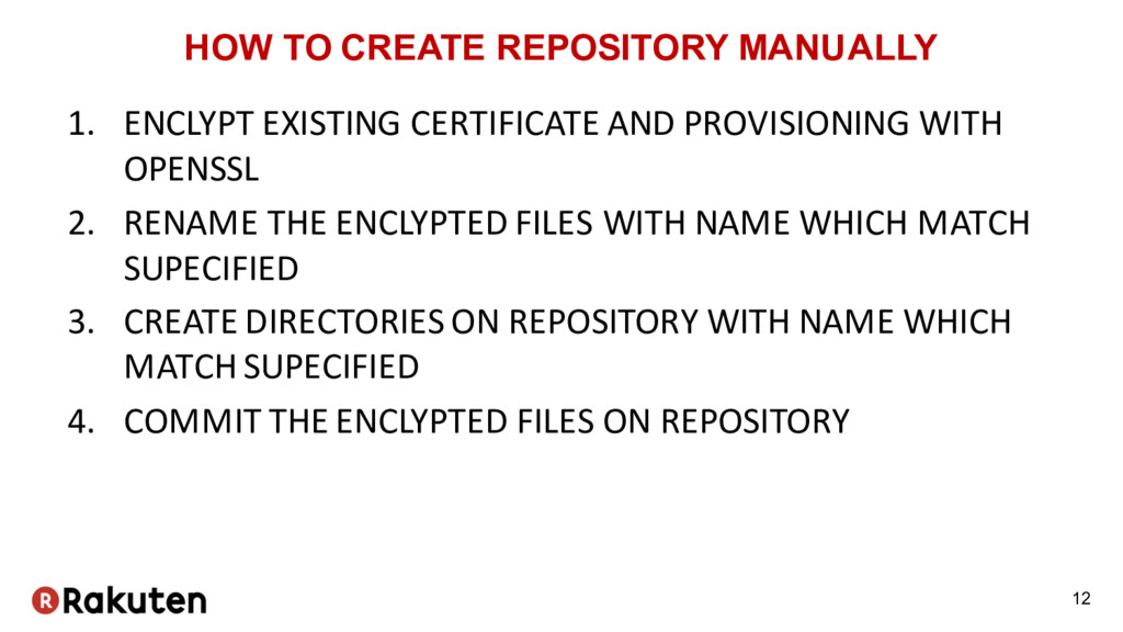 HOW TO CREATE REPOSITORY MANUALLY 1. ENCLYPT EX...