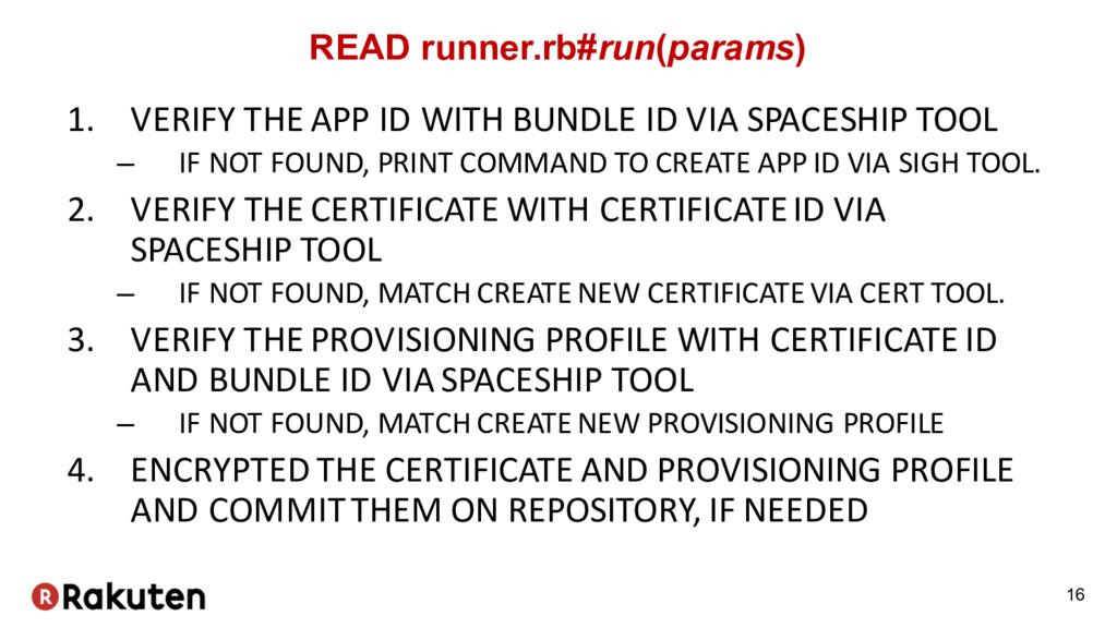 READ runner.rb#run(params) 1. VERIFY THE APP ID...