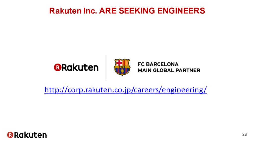 Rakuten Inc. ARE SEEKING ENGINEERS 28 http://co...