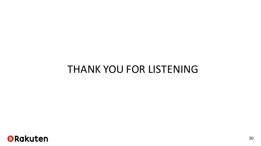 THANK YOU FOR LISTENING 30