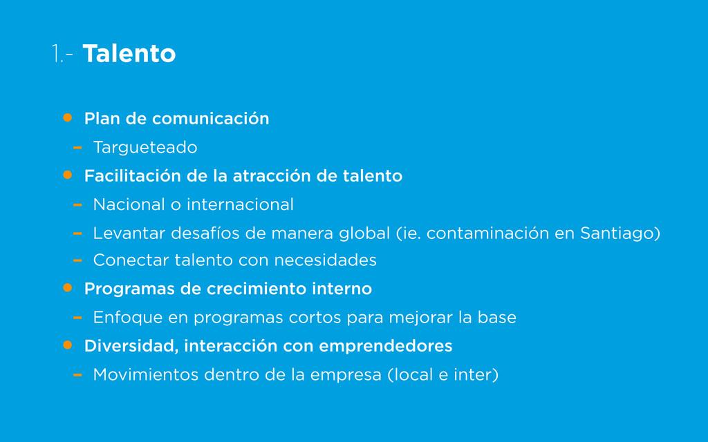 1.- Talento • Plan de comunicación - Targuetead...