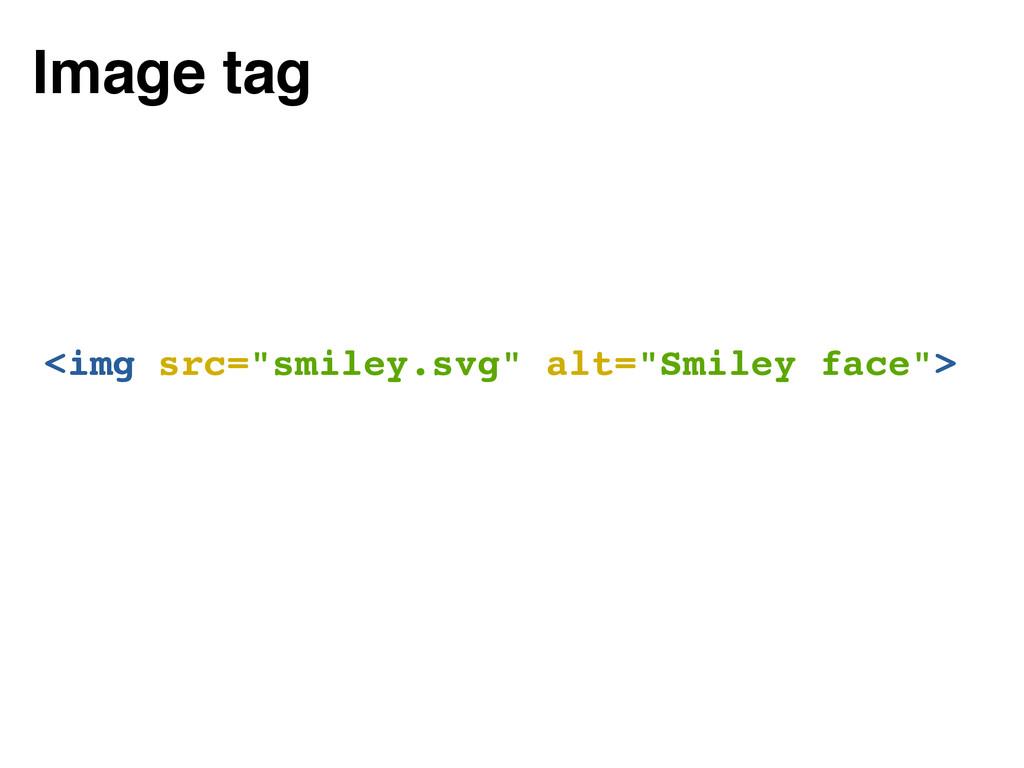 """<img src=""""smiley.svg"""" alt=""""Smiley face""""> Image ..."""