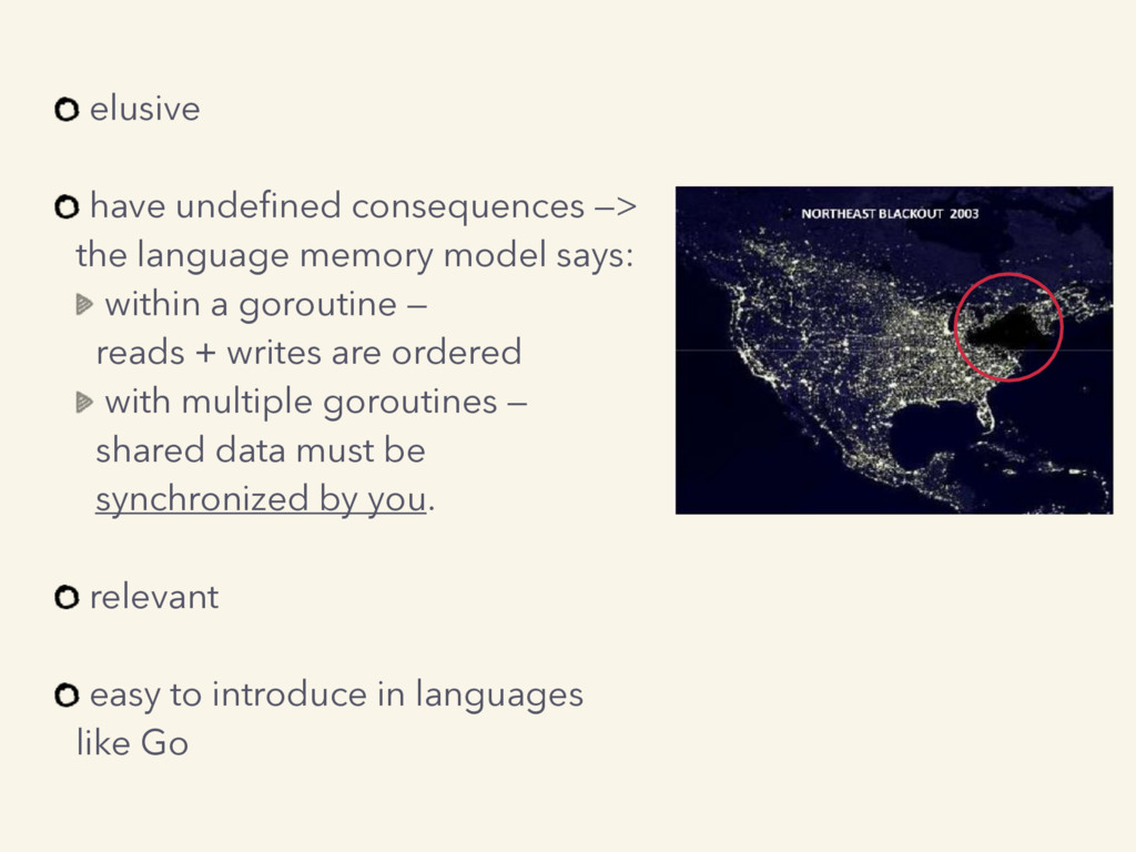 elusive have undefined consequences —> the lang...