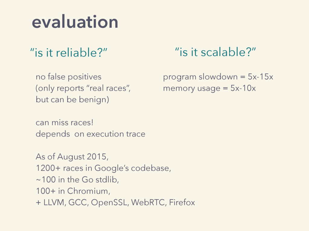 """evaluation """"is it reliable?"""" """"is it scalable?"""" ..."""