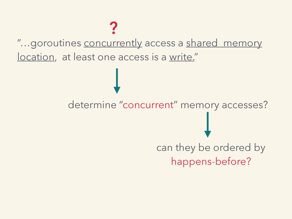 """""""…goroutines concurrently access a shared memor..."""