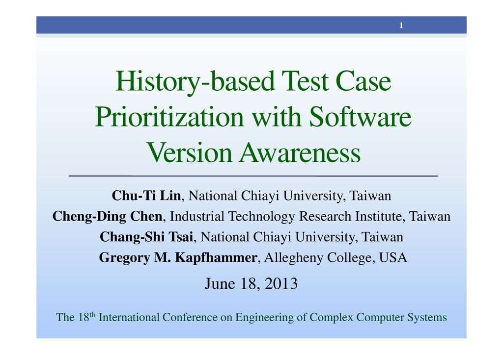 History-based Test Case Prioritization with Sof...