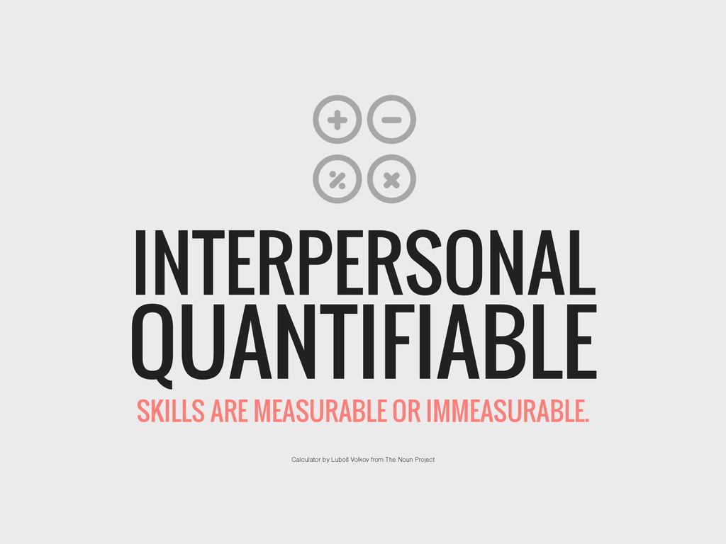 QUANTIFIABLE INTERPERSONAL Calculator by Luboš ...