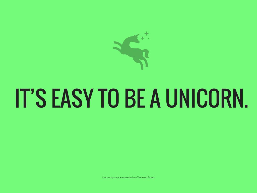 IT'S EASY TO BE A UNICORN. Unicorn by caba kosm...