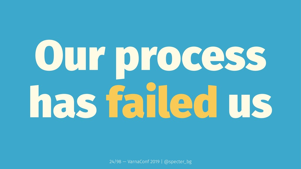 Our process has failed us 24/98 — VarnaConf 201...