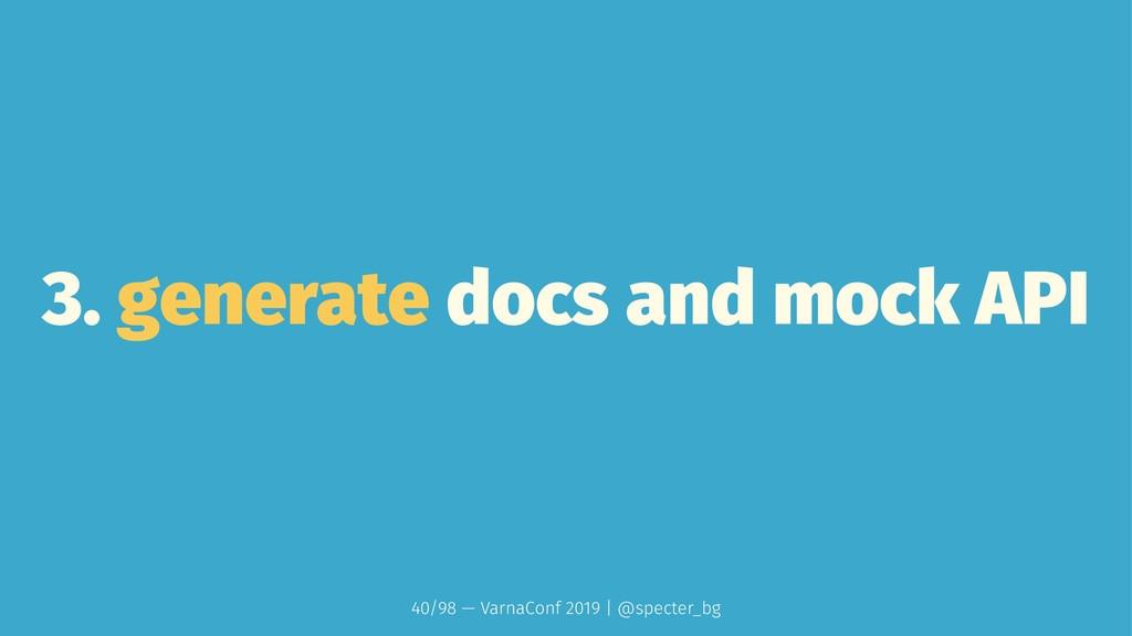3. generate docs and mock API 40/98 — VarnaConf...