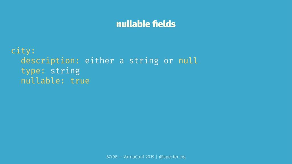 nullable fields city: description: either a stri...