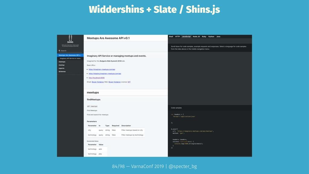 Widdershins + Slate / Shins.js 84/98 — VarnaCon...