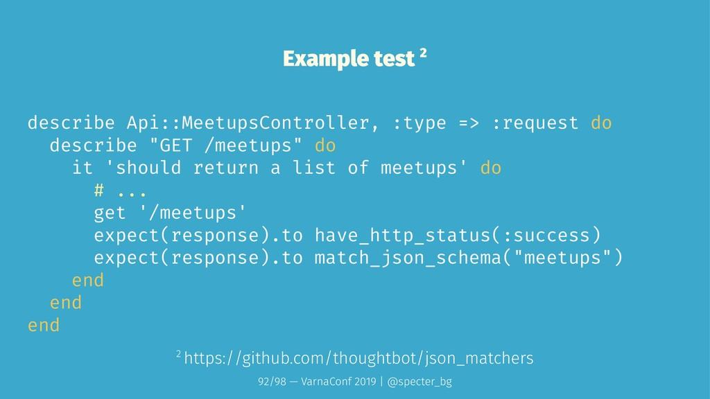 Example test 2 describe Api::MeetupsController,...