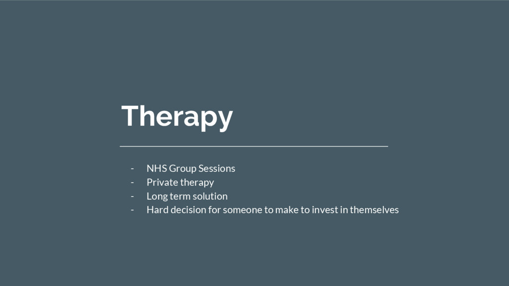 Therapy - NHS Group Sessions - Private therapy ...