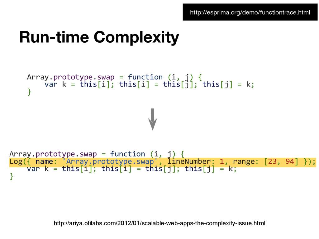 Run-time Complexity http://ariya.ofilabs.com/20...