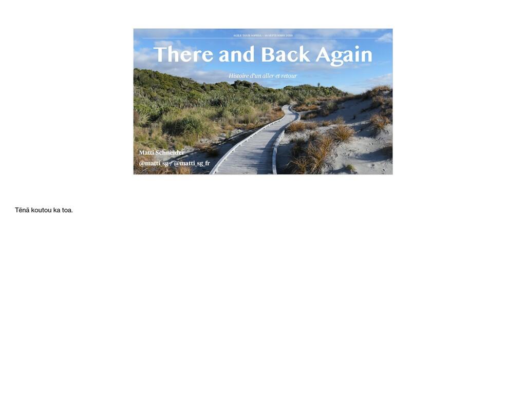 Histoire d'un aller et retour There and Back Ag...