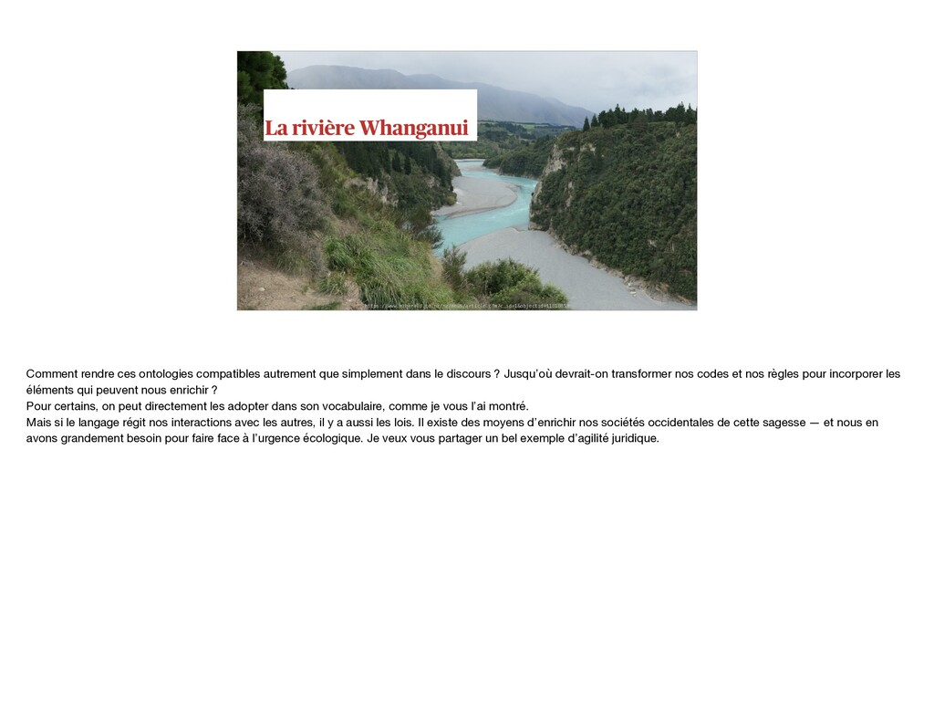 La rivière Whanganui https://www.nzherald.co.nz...