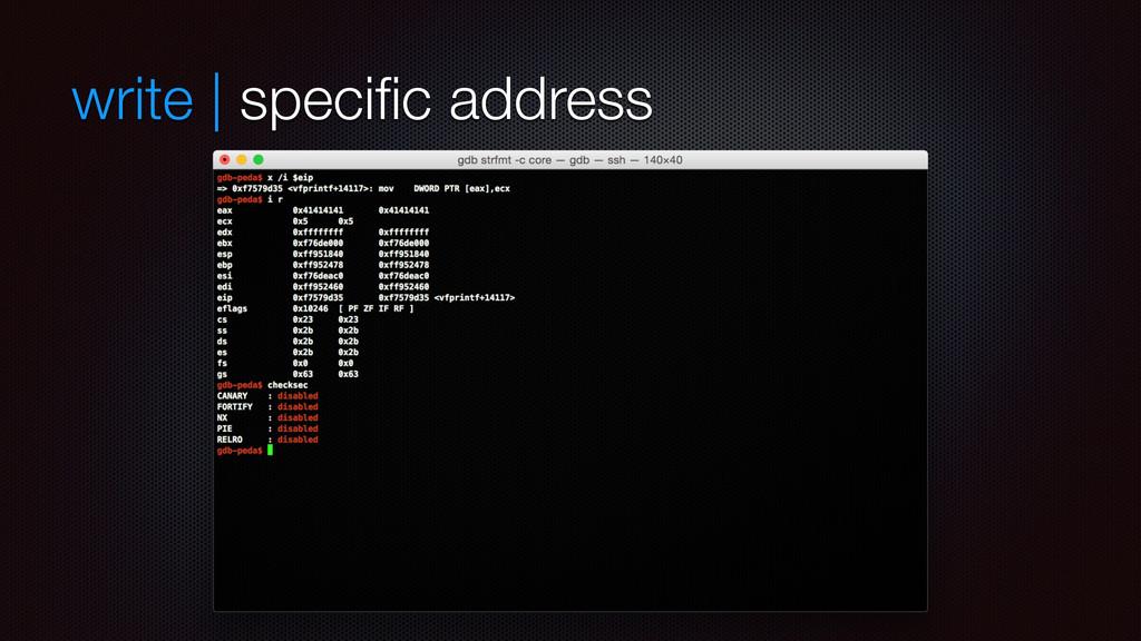 write | specific address