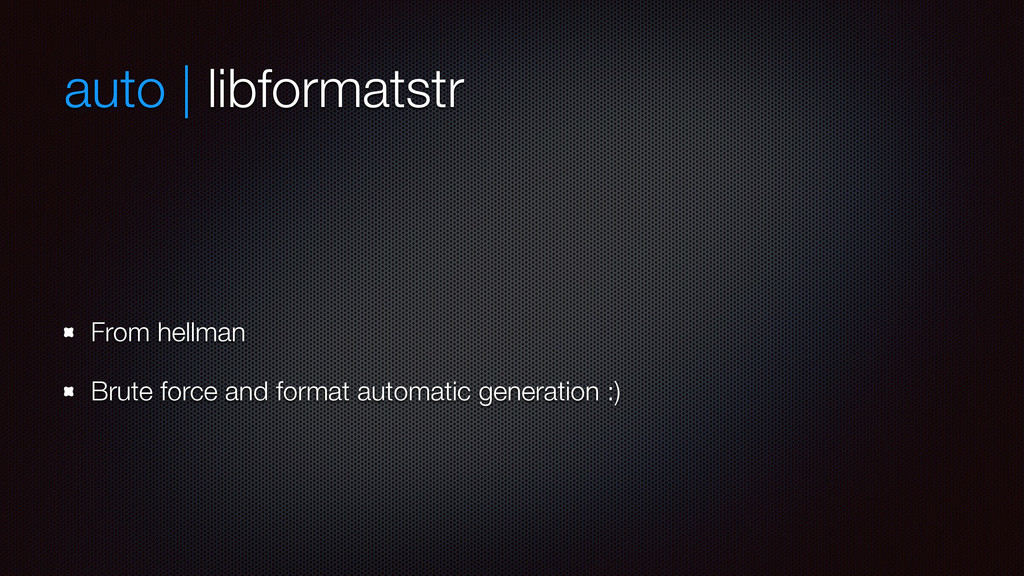 auto | libformatstr From hellman Brute force an...