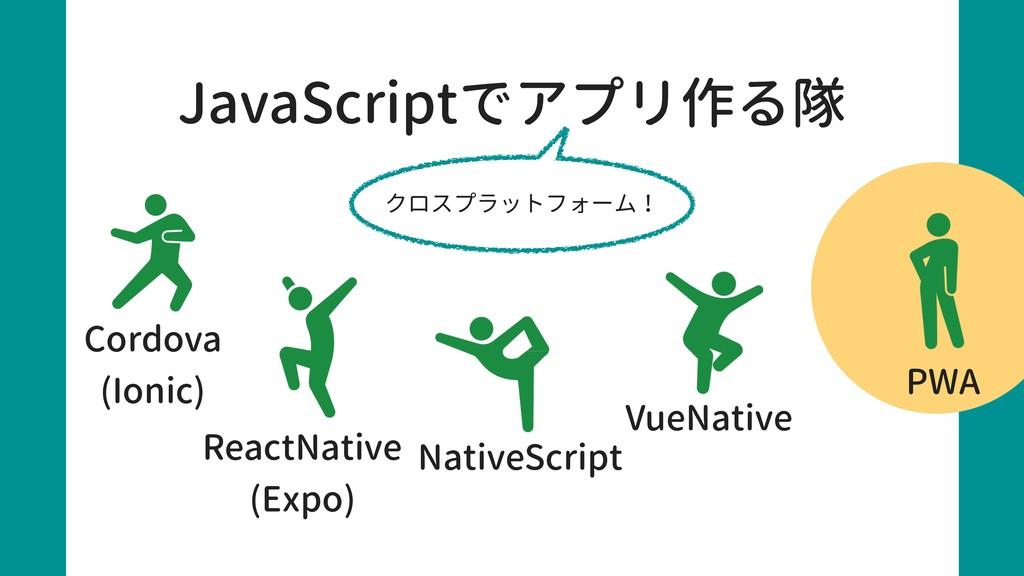 JavaScriptでアプリ作る隊 Cordova (Ionic) ReactNative (...