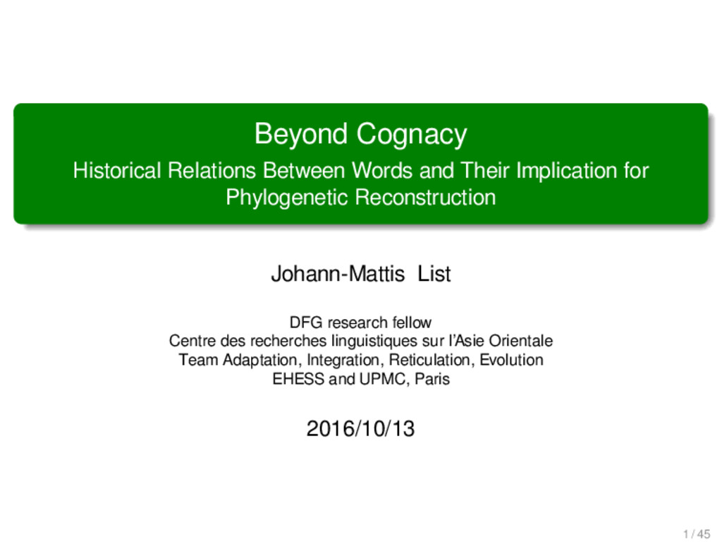 Beyond Cognacy Historical Relations Between Wor...