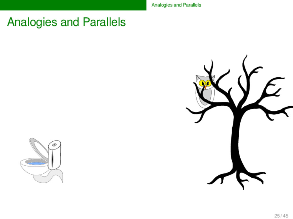 Analogies and Parallels Analogies and Parallels...